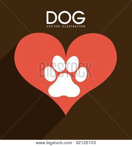 pets design over brown background vector illustration