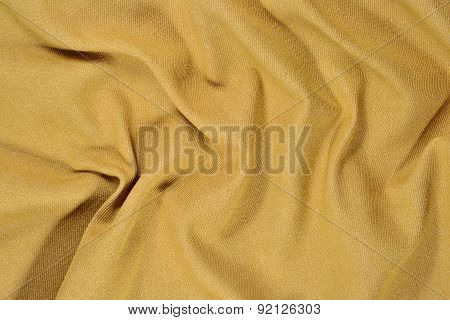 Yellow Crumpled Denim Background