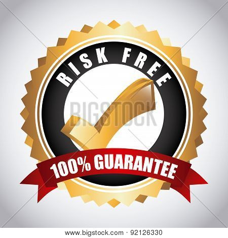 risk free over gray background vector illustration