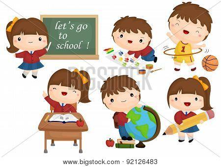 school vector set