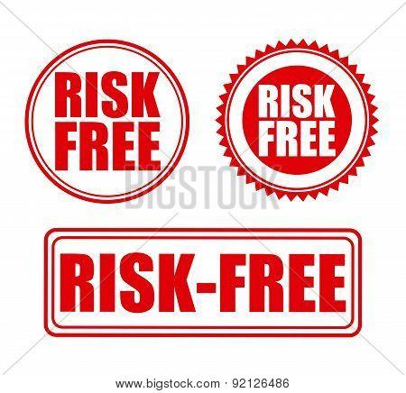 risk free over  white background vector illustration
