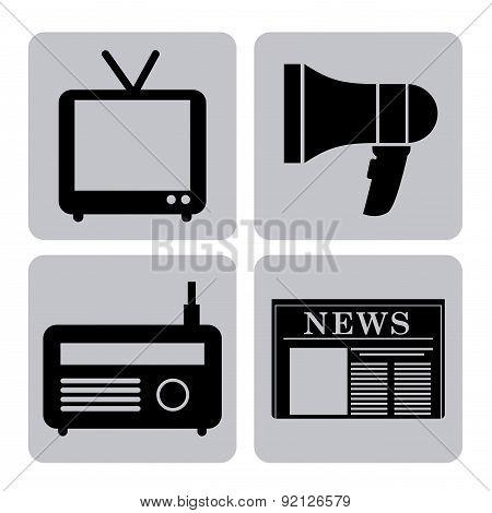 news design over white background vector illustration