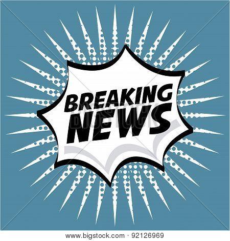 news design over blue background vector illustration