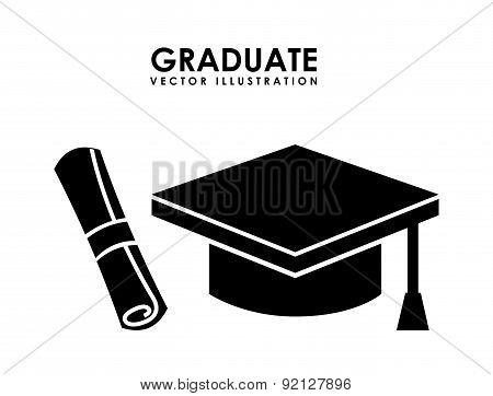 graduate design over white background vector illustration