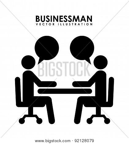 businessman design over white background vector illustration