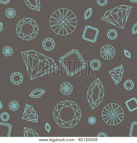 Seamless pattern diamonds