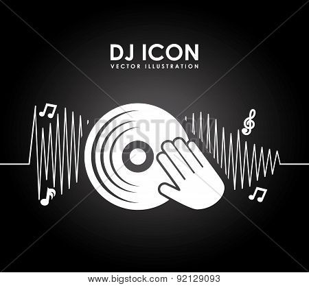 music icon over black background vector illustration