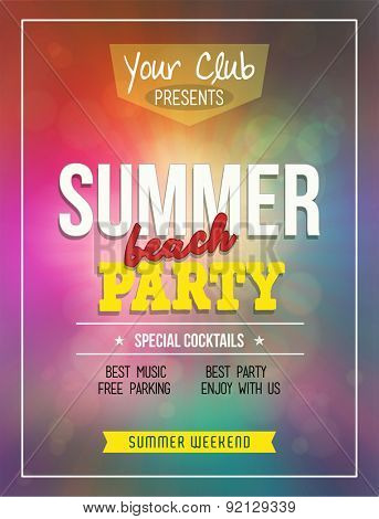 Summer Party Poster/Flyer