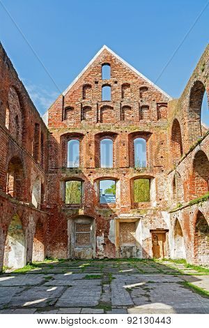Ruin Of A Monastery Building Of Red Brick In Bad Doberan