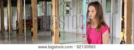 Girl In Pole Dance Class