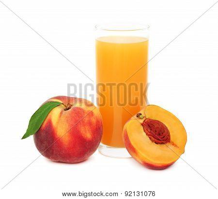 Peach Juice (isolated)