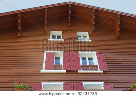 Traditional Wooden Mountain House