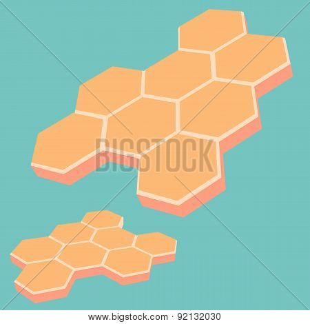 Abstract Honey Cells