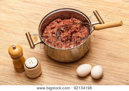 Mincemeat In A Metal Pan