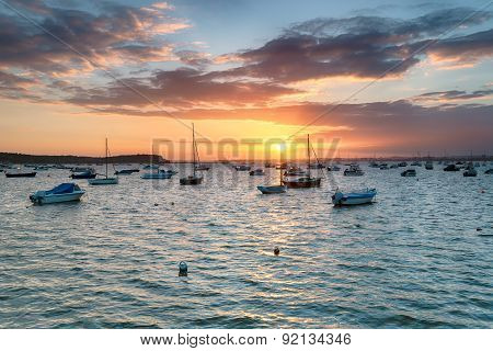 Boats At Sandbanks In Poole Harbour