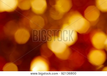 Red And Yellow Lights Out Of Focus Background