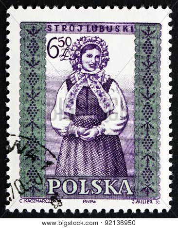 Postage Stamp Poland 1960 Woman From Lubuski