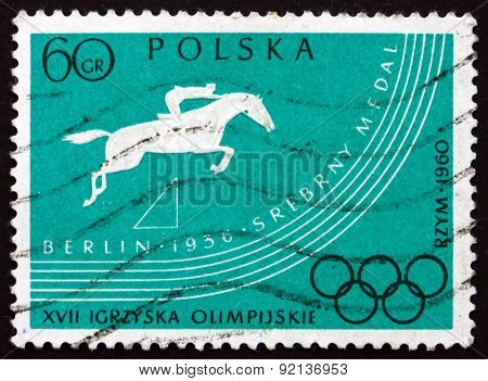 Postage Stamp Poland 1960 Steeplechase