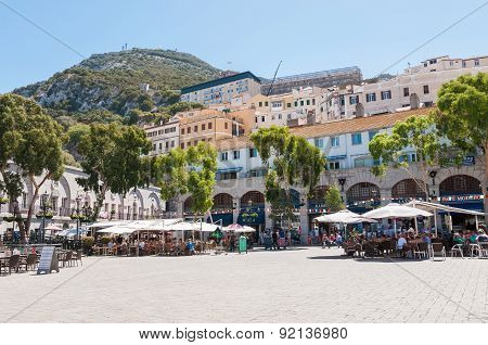 View Of Grand Casemates Square In Gibraltar