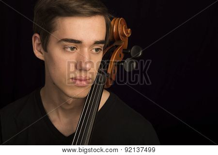 Young man with cello
