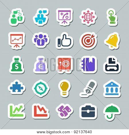 25 Basic Iconset Business, Sticker