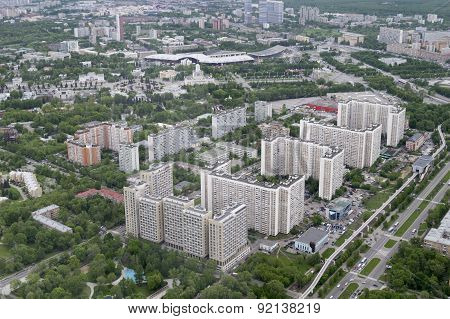 View of Moscow from a height of 337 meters
