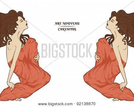 Atr-nouveau Style Vector Women