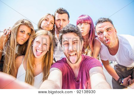 Group Of Happy Friends Having Fun