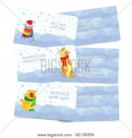 Winter Seasonal Theme Business Cards