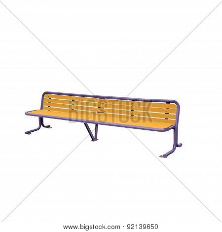 Wooden Detailed Bench