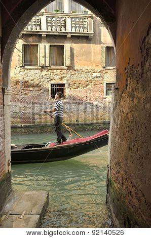 Gondola Through An Arch