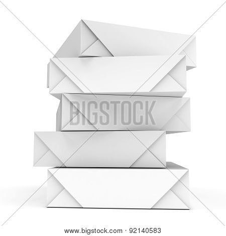 3D Stack Of Packs A4 White Paper