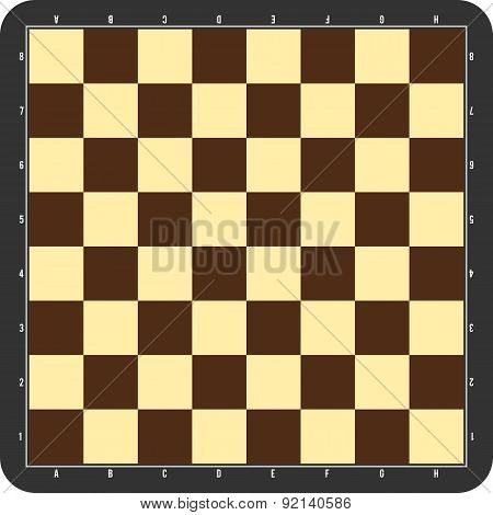 Chessboard with grey frame