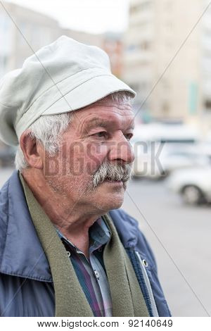 Old Man Selling Mint