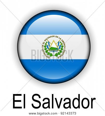 el salvador official flag, button ball