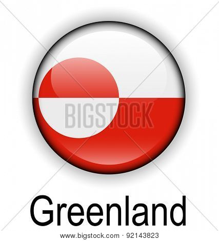 greenland official flag, button ball