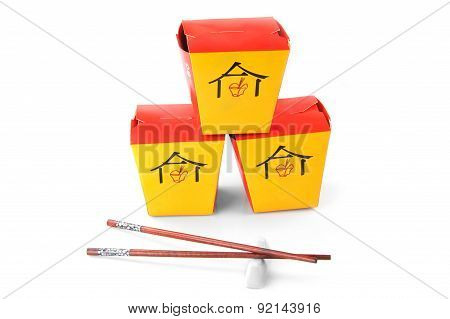 Three Chinese  Containers