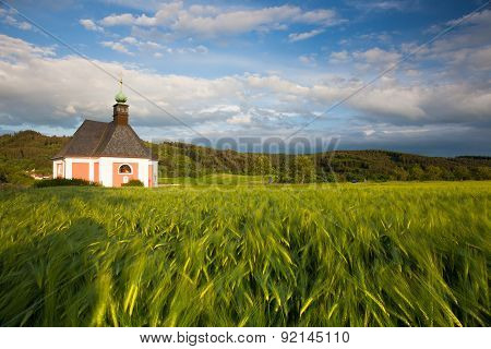 Renovated Church On The Edge Of A Cornfield