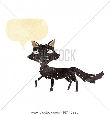 cartoon skinny wolf