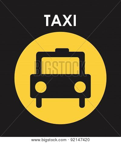 taxi label over gray background vector illustration