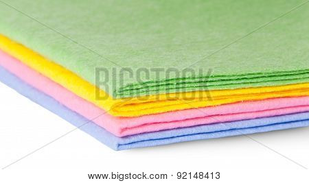 Closeup Multicolored Cleaning Cloths