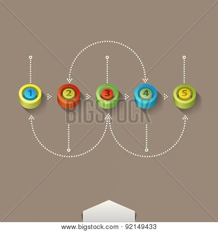 colored numbers (elements for design and business)
