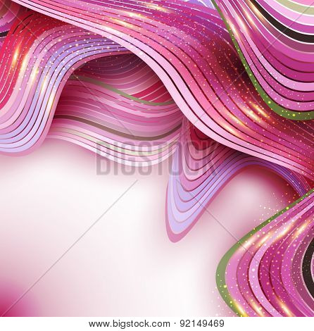 pink  abstract background with  waves