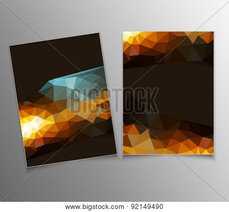 template with an abstract pattern of triangles