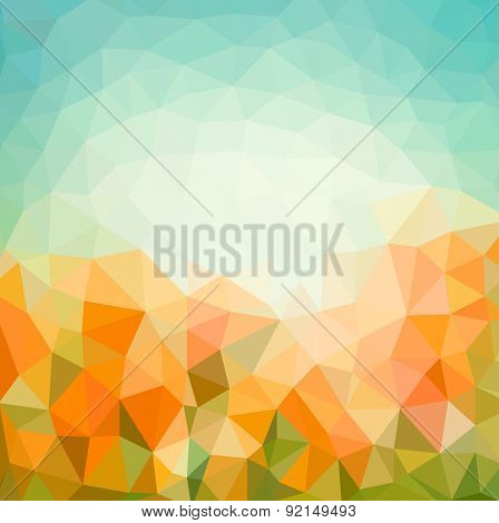 vintage natural background of triangles