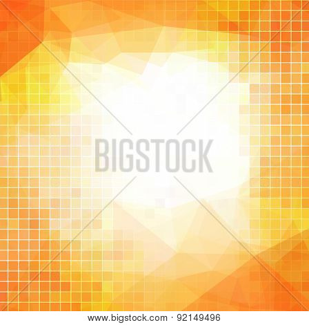orange abstract background for business with squares