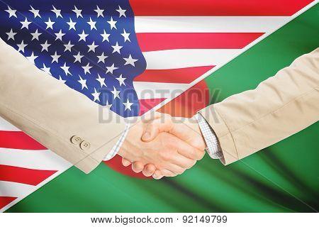 Businessmen Handshake - United States And Bangladesh