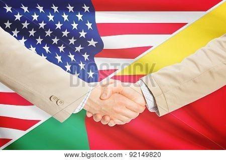 Businessmen Handshake - United States And Benin