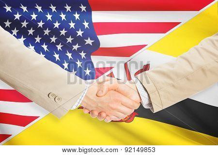 Businessmen Handshake - United States And Brunei
