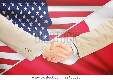 Businessmen Handshake - United States And Greenland